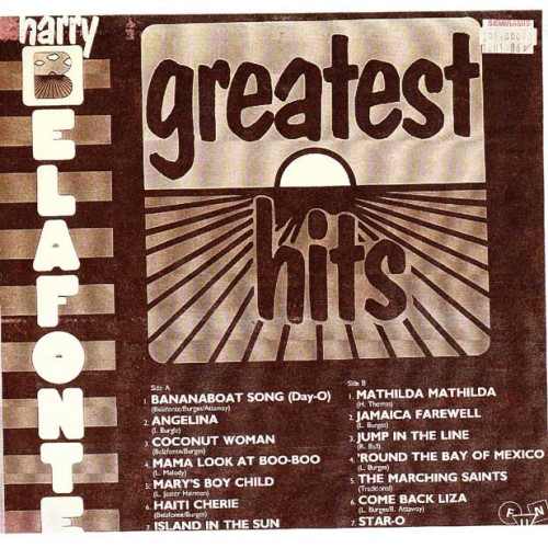 HARRY BELAFONTE - GREATEST HITS