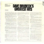 DAVE BRUBECK QUARTET,THE - DAVE BRUBECK'S GREATEST HITS