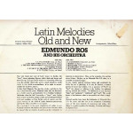 EDMUNDO ROS AND HIS ORCHESTRA - LATIN MELODIES OLD AND NEW