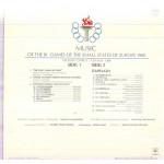 MUSIC OF THE III GAMES EUROPE 1989 - NICOSIA CYPRUS